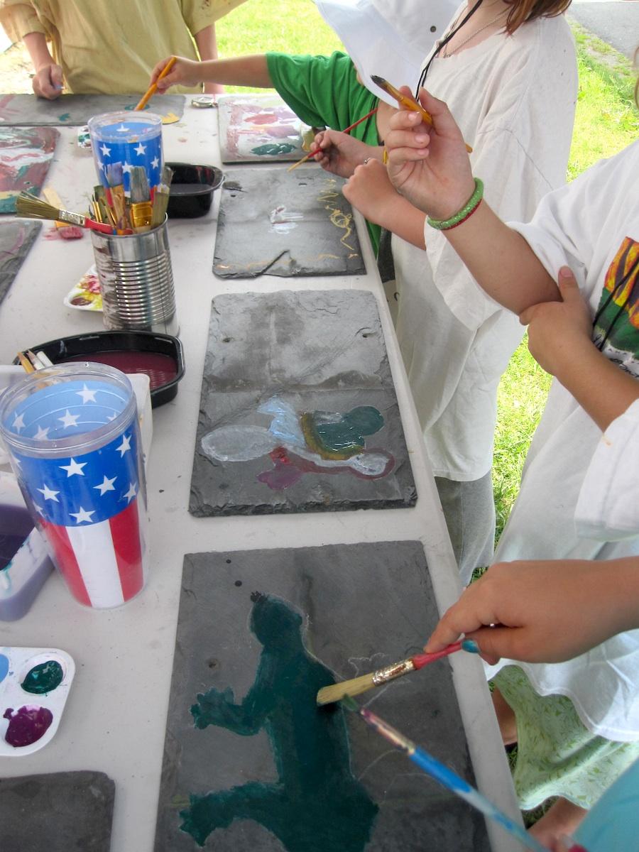 paint on slate